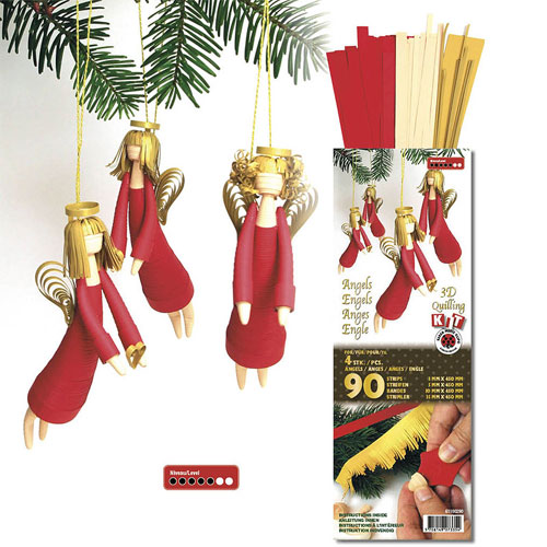 Angel 3D quilling kit red and gold
