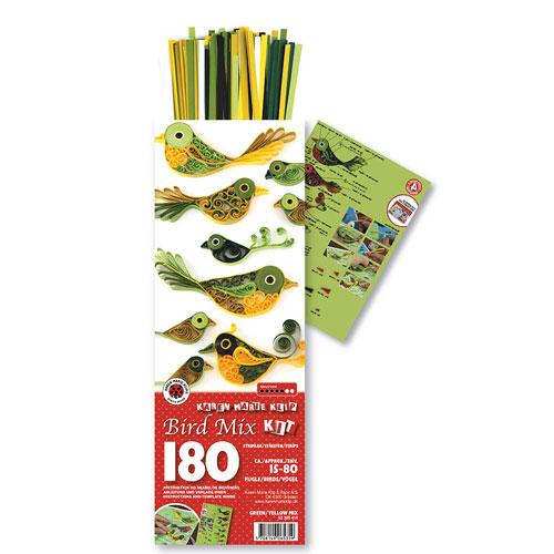 Quilling kit green birds