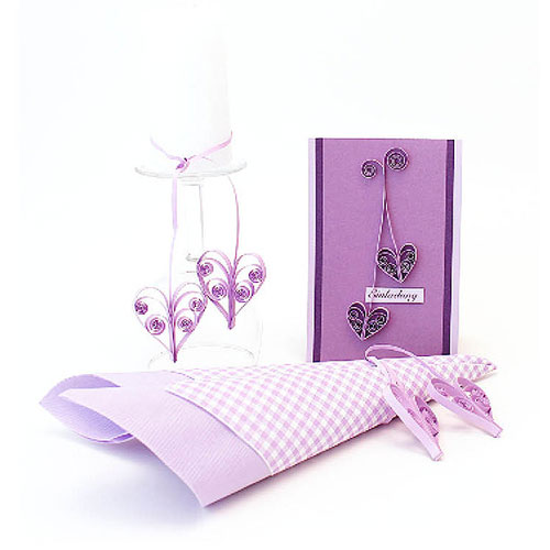 Kit quilling cors violetes