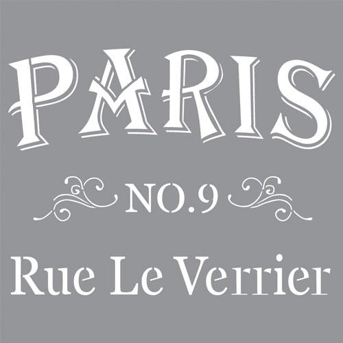 Stencil 30,5x30,5 cm Rue le Verrier
