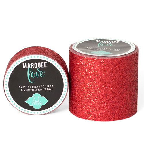 Masking Tape Gliter Marquee Love 2,2 cm. Rollo 3,5 m