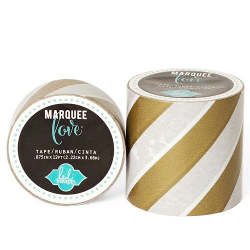 Masking Tape Marquee Love 2,2 cm. Rotllo 3,6 m.Gold Strip
