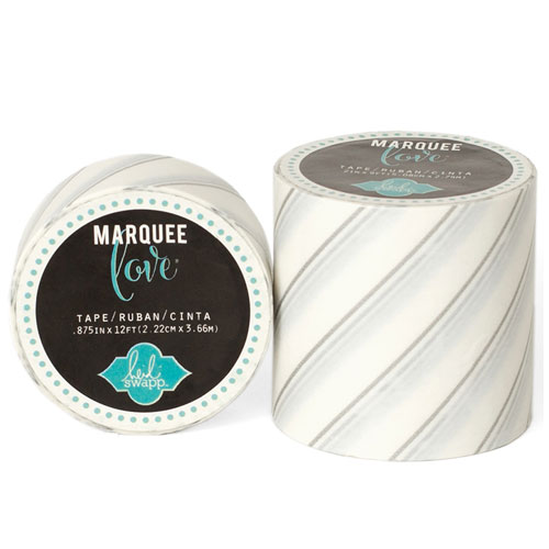 Masking Tape Marquee Love 2,2 cm. Roll 3,6 m. Silber foil