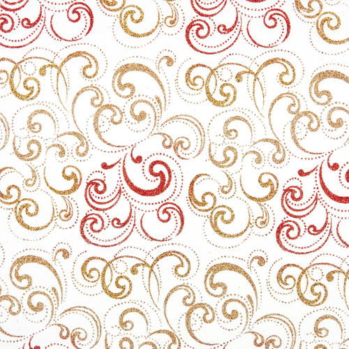 Tissu Nabucco 31 roll 30cmx5m - red and gold