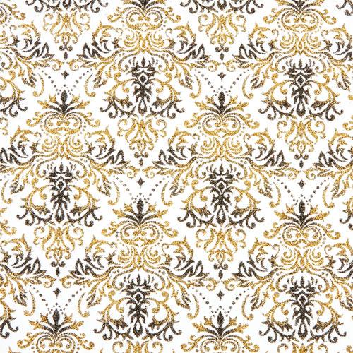 Tissu Traviatta 38 roll 30cmx5m - black and gold
