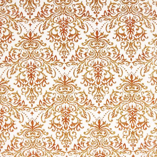 Tissu Traviatta 43 roll 30cmx5m - red and gold