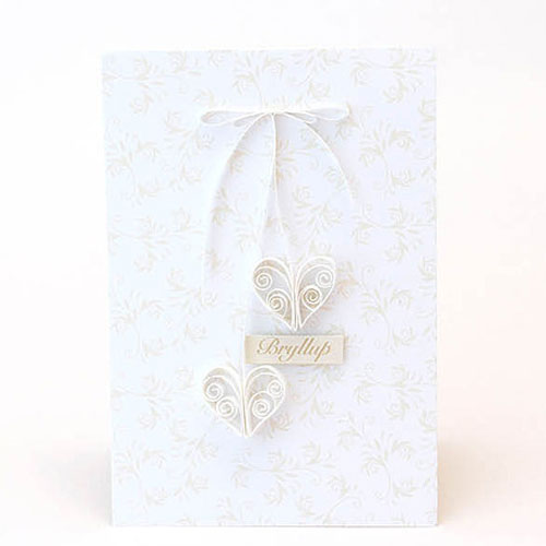 Quilling kit white hearts
