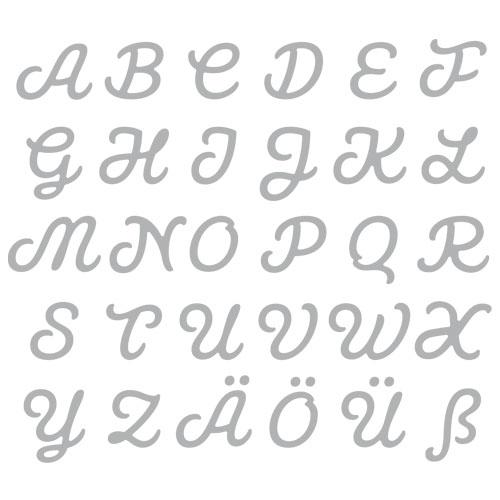 Encuny alfabet connectat majúscula