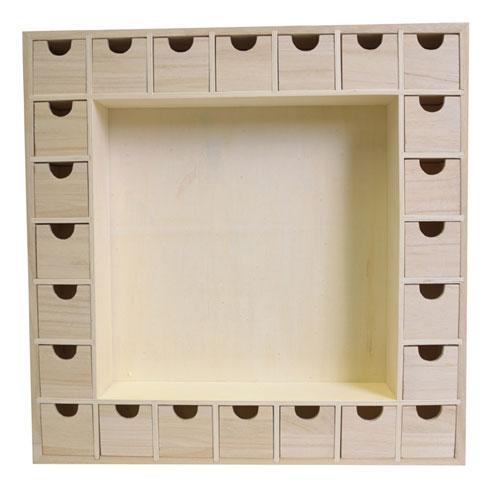 Calendario de adviento de madera arenart earenart - Calendario adviento madera ...
