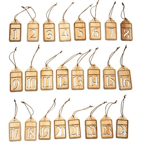 Numeros calendario adviento madera arenart earenart - Calendario adviento madera ...