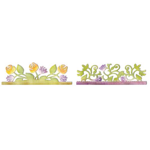 Troquel Sizzlits Sizzix. Jardin botánico y rosas