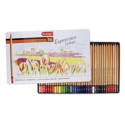 Estuche metal 36 lápices de colores Expression