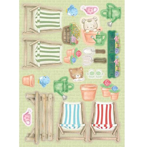 Garden Elements. Figuras pre-cortadas A4