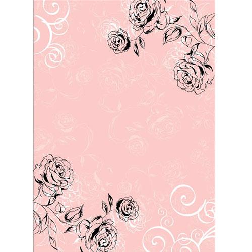 Roses Pink. Lamina A4