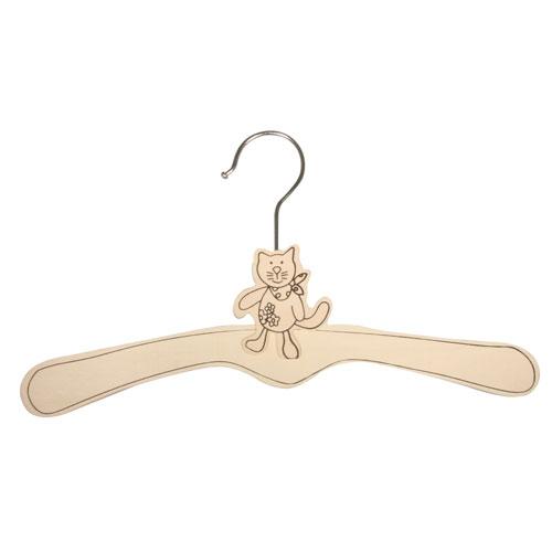 Percha madera gatito 34 cm