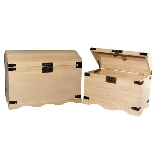 kit 2 baúles de 37x21x26 cm y 44,8x28,8x32 cm