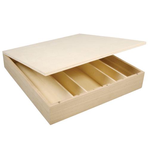 Cajita para té 5 compartimentos. 29,5x27x5 cm