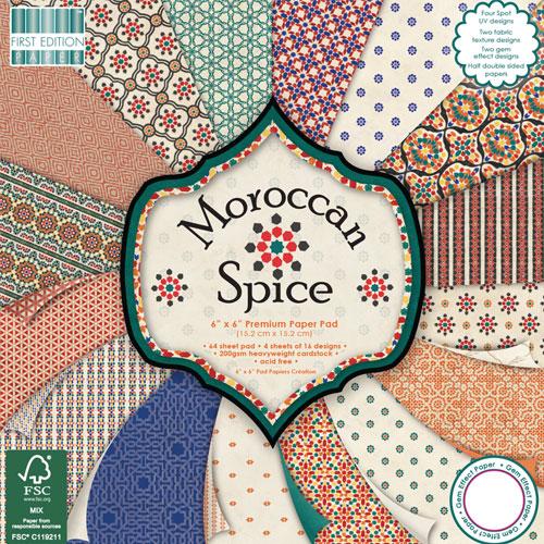 64 papeles 15,2 x 15,2 cm. Morrocan Spice