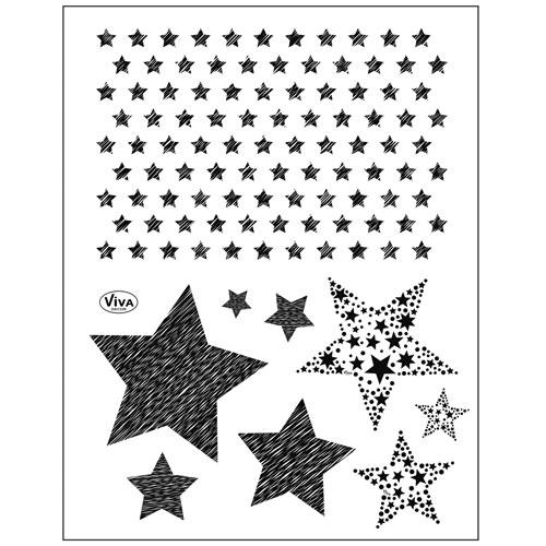 Sello de Silicona 14x18 cm. Modelo 147. Estrellas