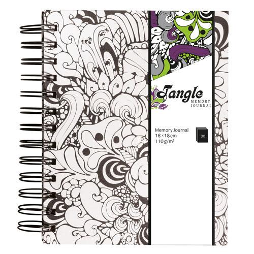 Memory Journal blanco Tangle Orquidia 15,5x18 cm