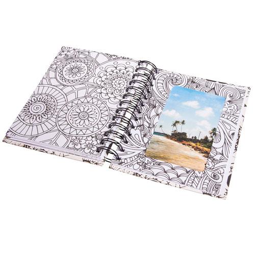 Memory Journal blanco Tangle Flora 15,5x18 cm