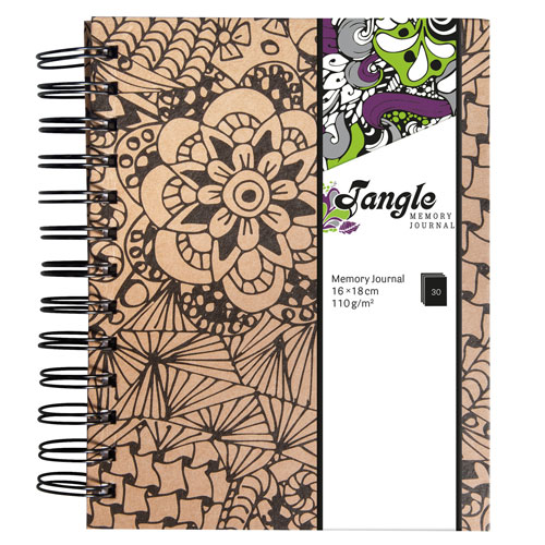 Memory Journal Kraft Tangle Cameo 15,5x18 cm