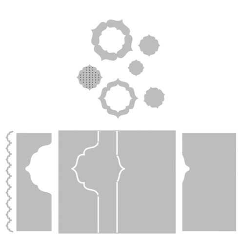 Troquel Framelit Sizzix. Tarjeta Flip-its Regio