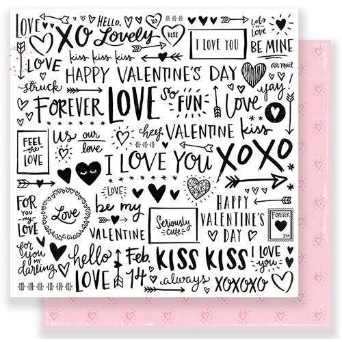 Papel doble cara 30,5 x 30,5 cm. My Valentine