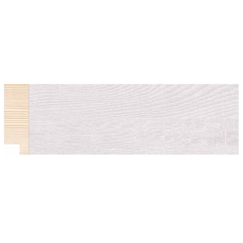Metro lineal moldura madera decapé blanca 5 cm. Ref. 1824/12
