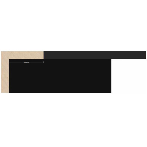 Metro lineal moldura madera negra 5,2 cm. Ref. 5544/4
