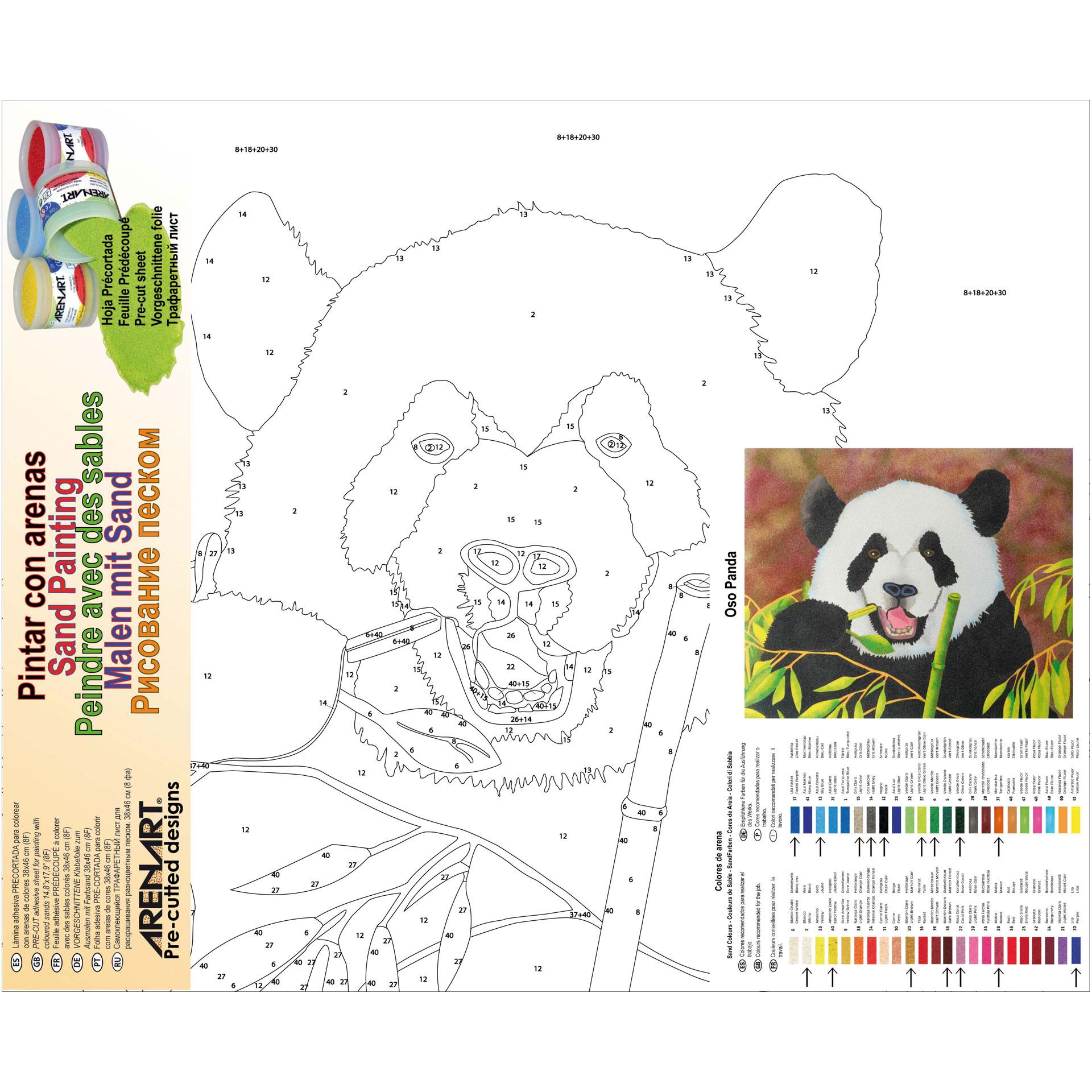 Oso Panda. 2 medidas disponibles