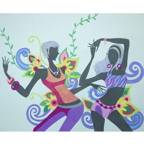 Siluetas bailando. 50x61 cm