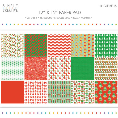 20 papeles 30,5 x 30,5 cm. Jingle Bells