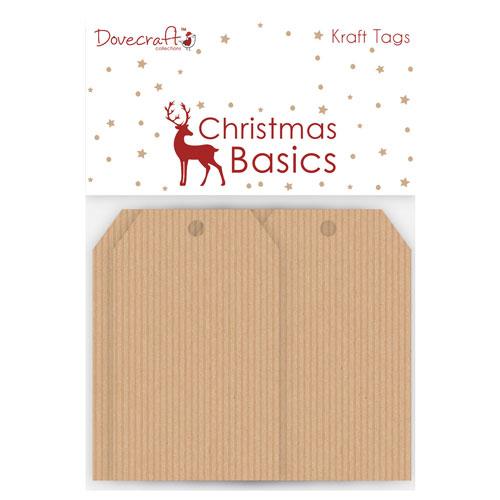 16 Tags Kraft. Christmas Basics