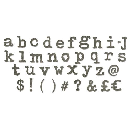 Troquel Sizzix Bigz XL. Alfabeto Tipo Lower