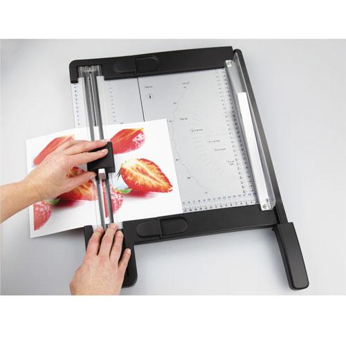 Guillotina y cizalla de rodillo para papel. Longitud corte 320 mm
