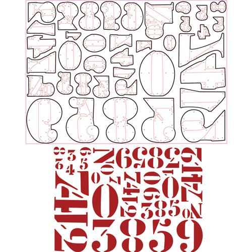 Sizzix Thinlits - Números