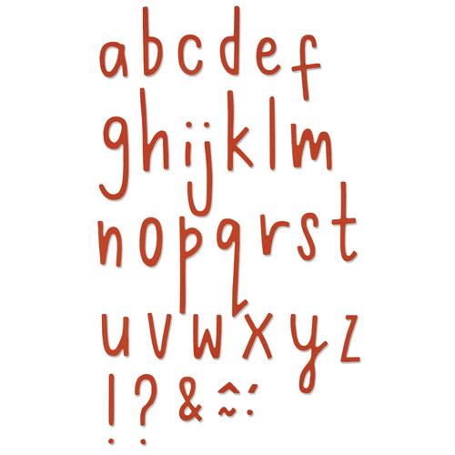 Sizzix Thinlits - Letras Delicadas 2
