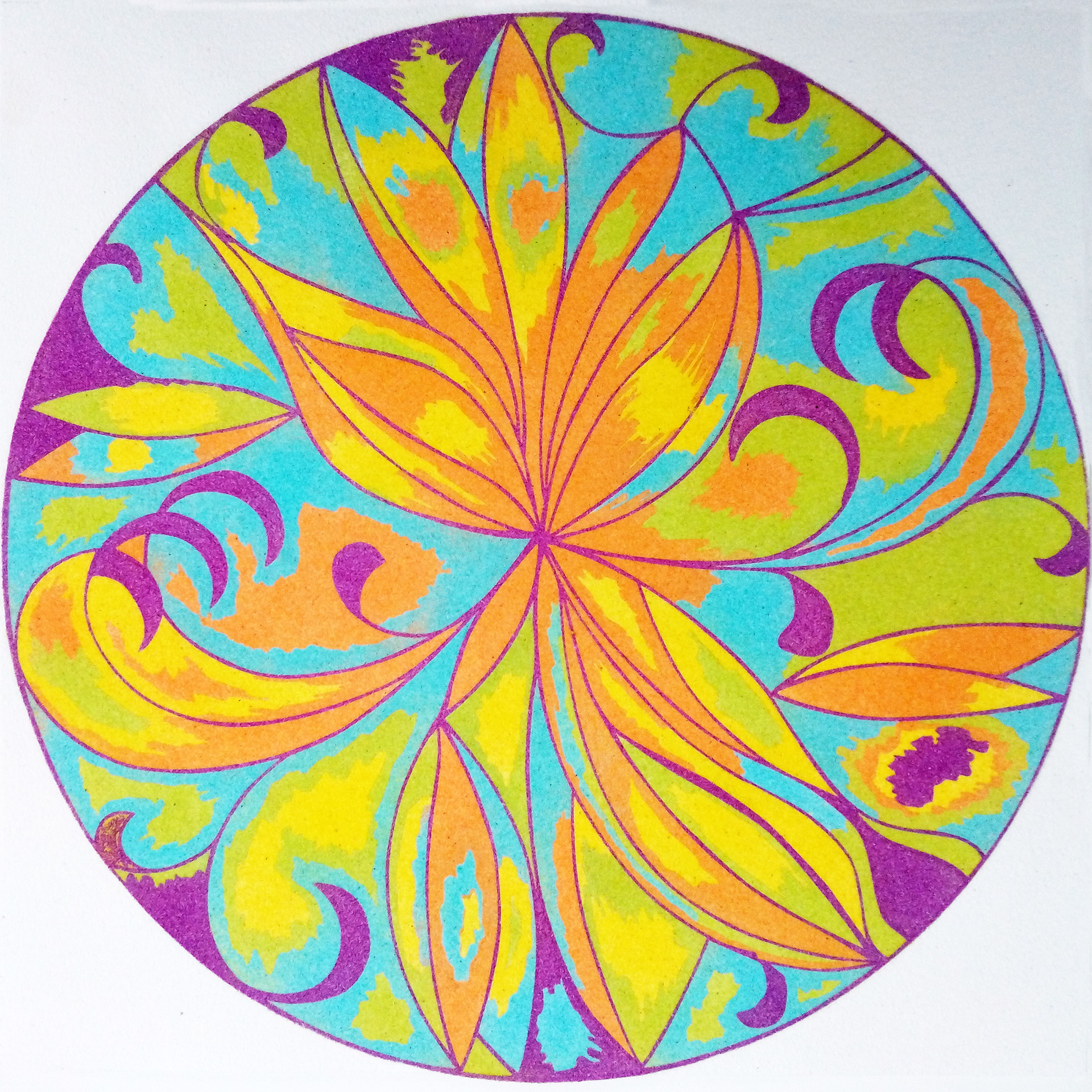 Mandala 2. 2 medidas