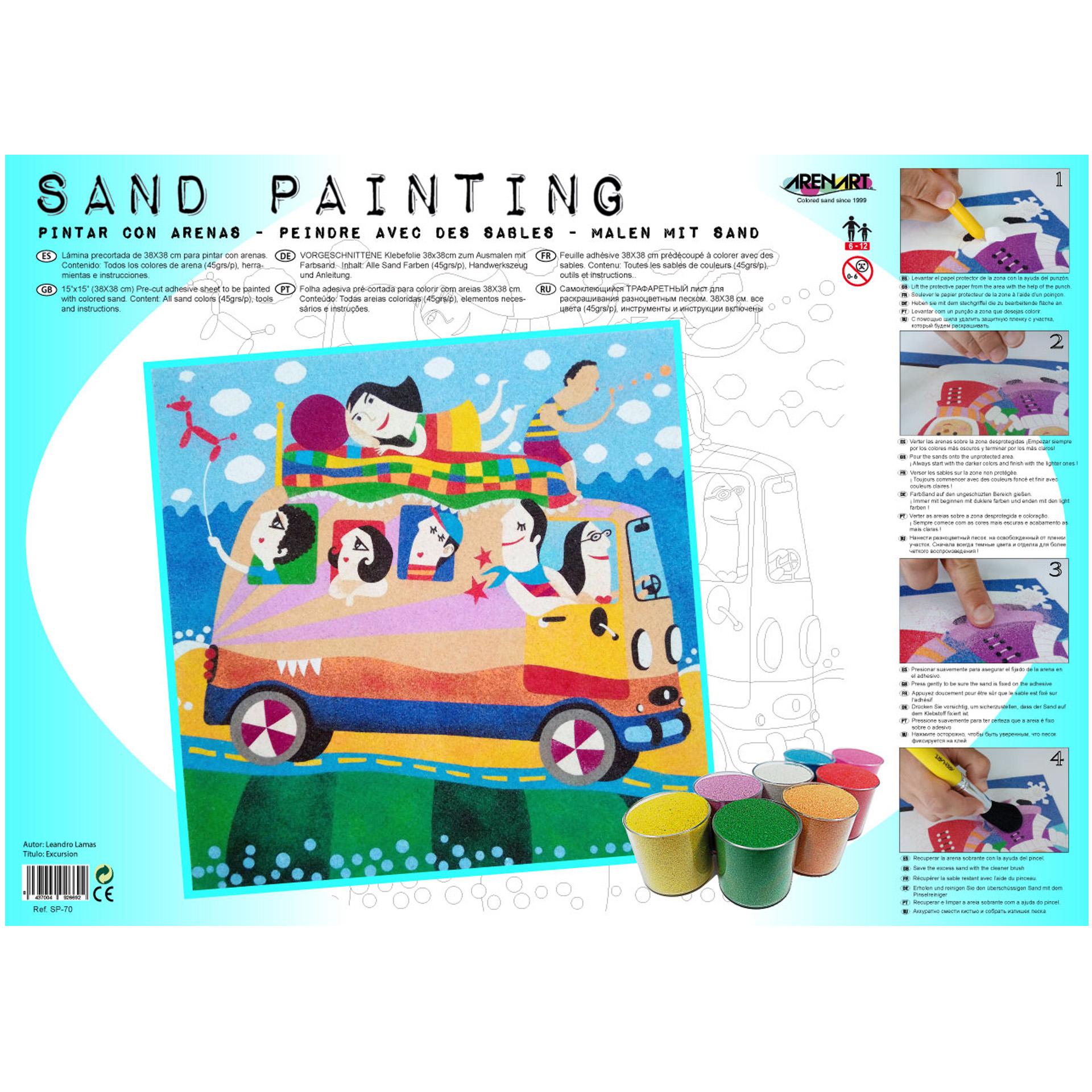 Sand Painting Excursión Bus