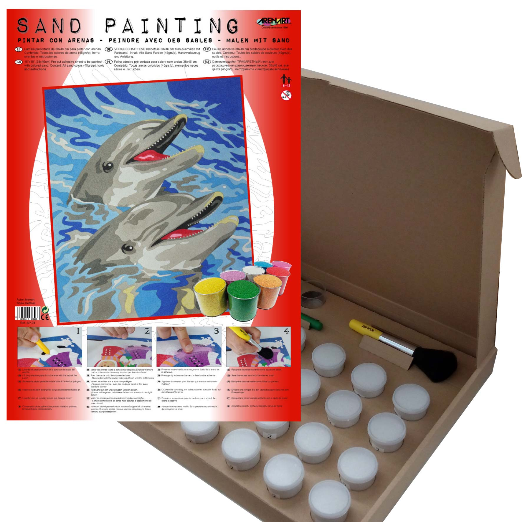 Sand Painting Delfines