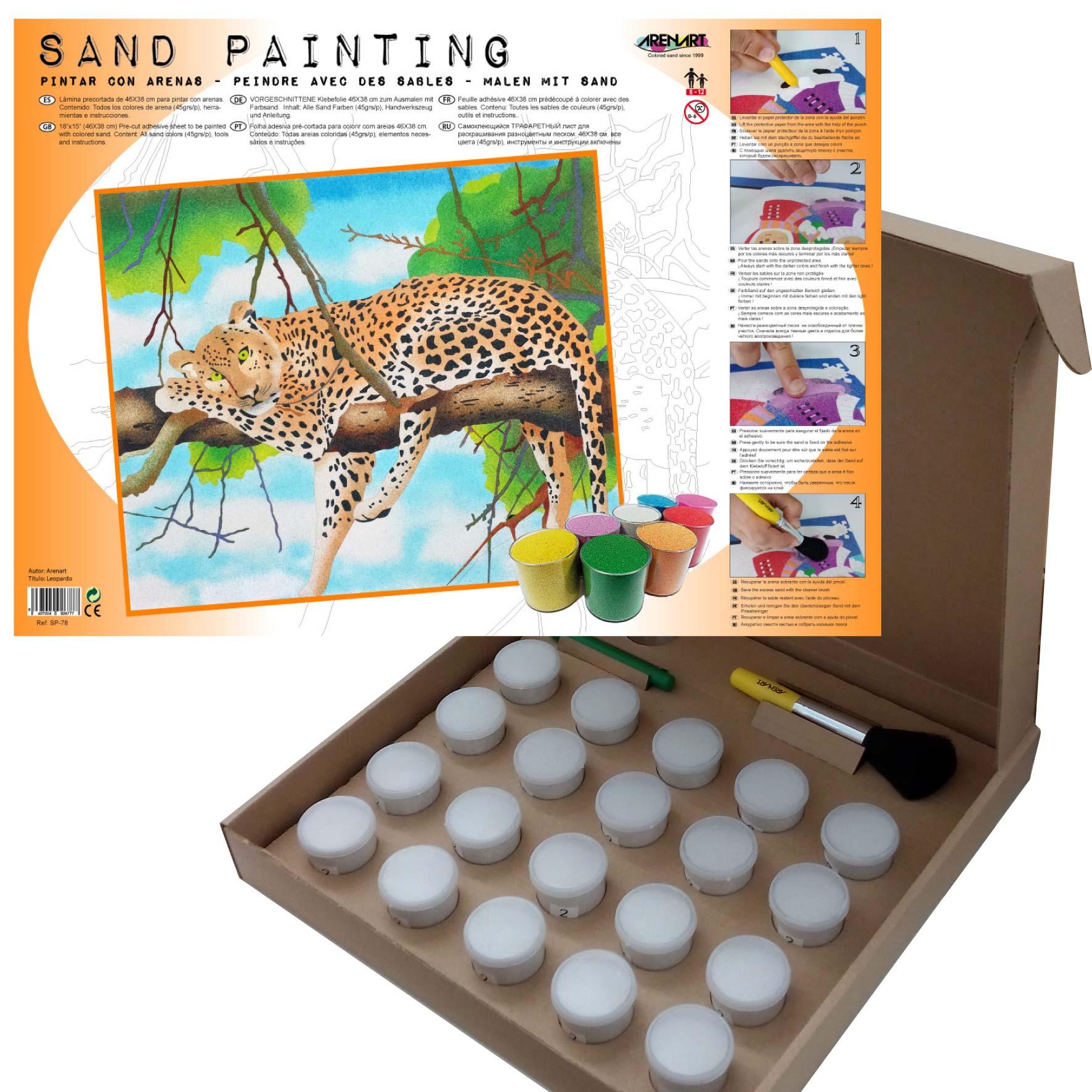 Sand Painting Leopardo
