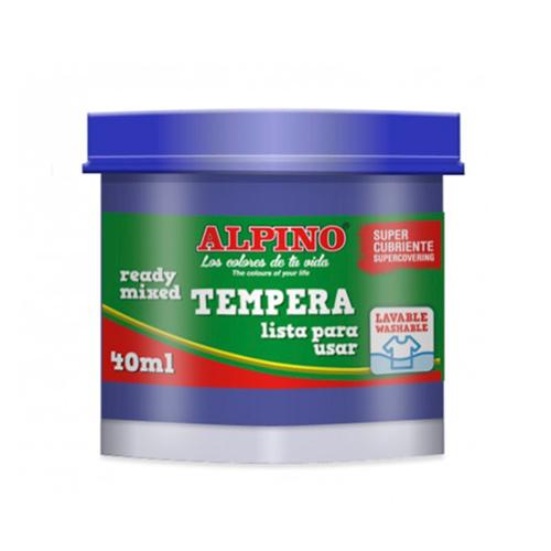 Témpera escolar Alpino 40 ml. Gama 10 colores