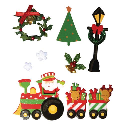 Deco stickers Tren Navidad