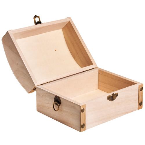 Caja baul madera 13,5x10x8 cm