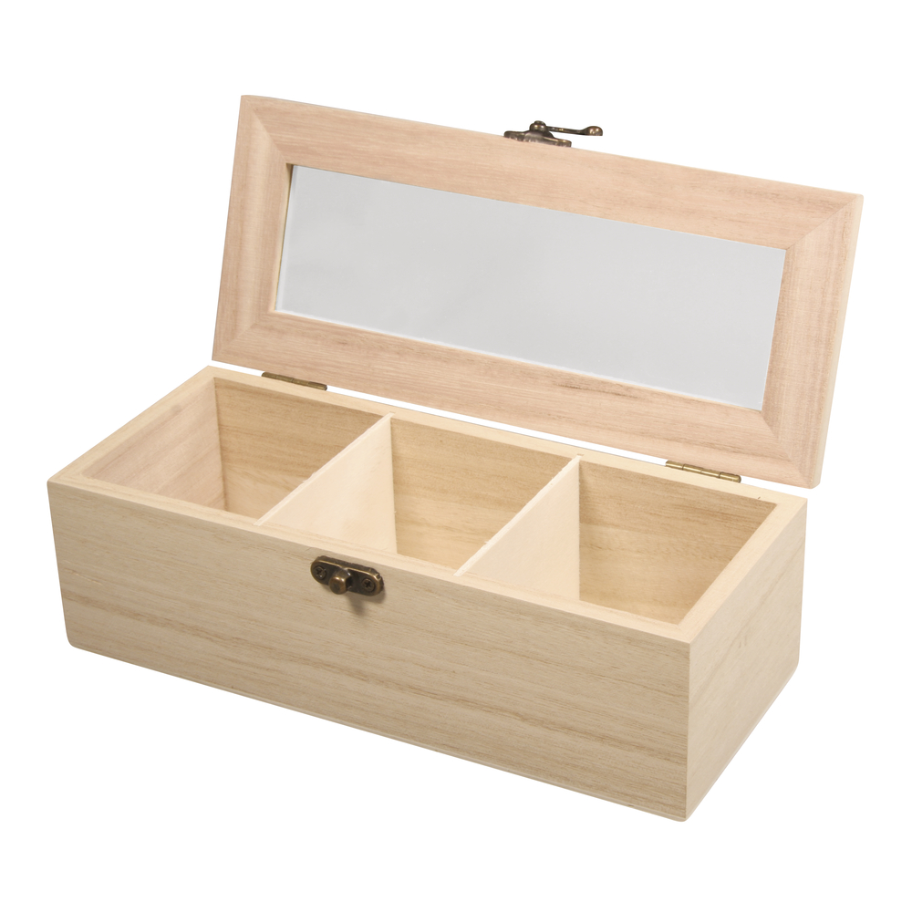 Caja 3 compartimentos 21,5x9x7 cm