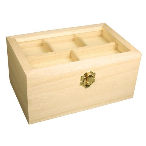 Caja madera tapa cristal 20x13x9,5 cm
