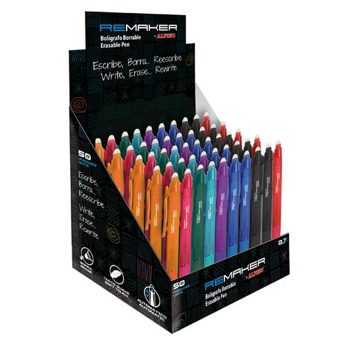 Expositor 50 unidades bolígrafo borrable