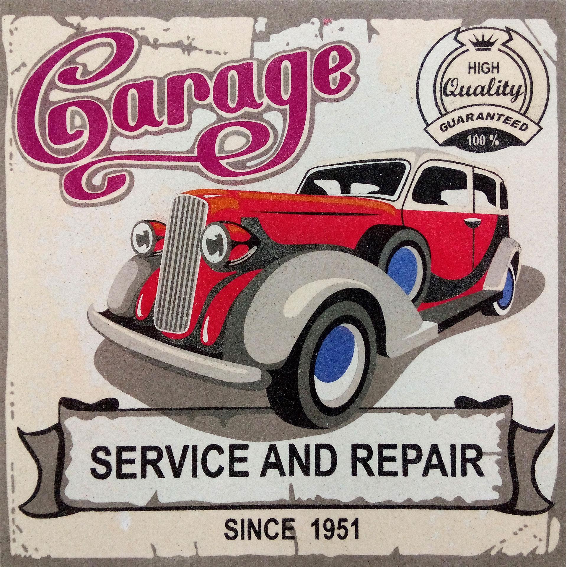 Garage Since 1951. 2 medidas disponibles