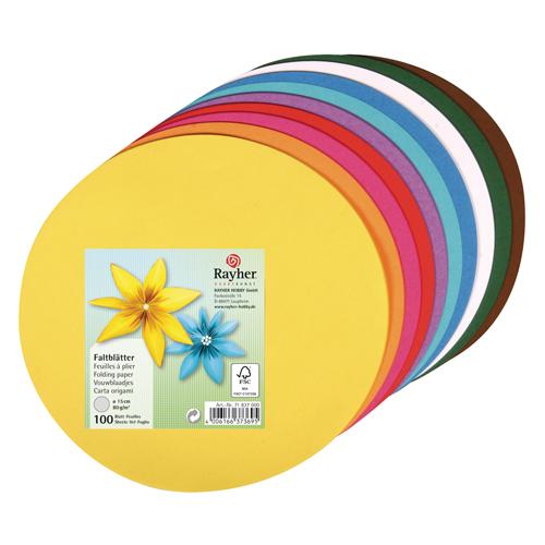 100 hojas Origami ø 15 cm. Colores